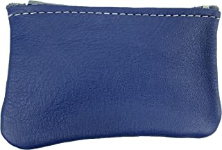 product image for North Star Men's Leather Zippered Coin Pouch Change Holder (4 X 2.5 X 0.25 Inches, Violet Blue)