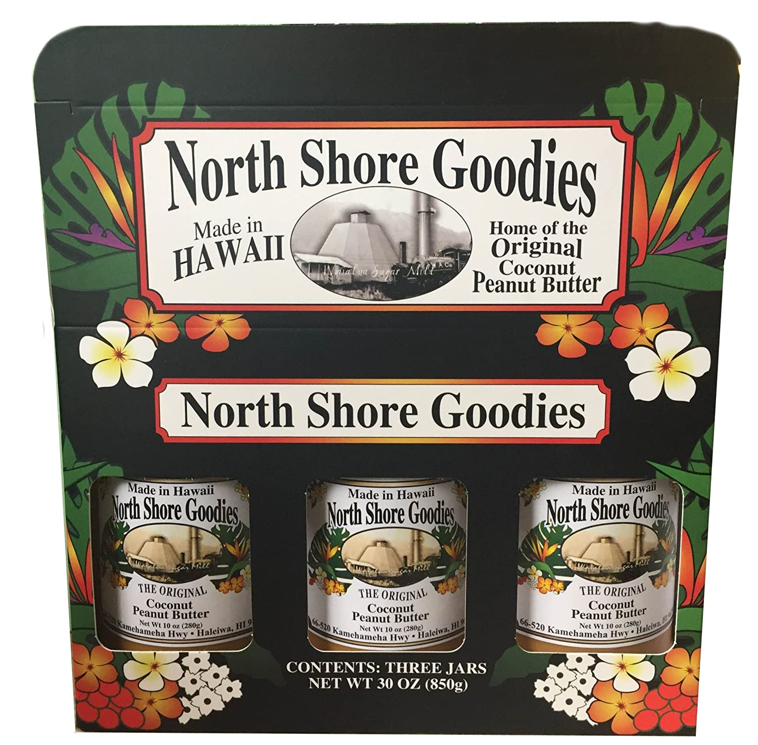 Hawaiian North Shore Goodies All Original Coconut Peanut Butter Gift Box by North Shore Goodies