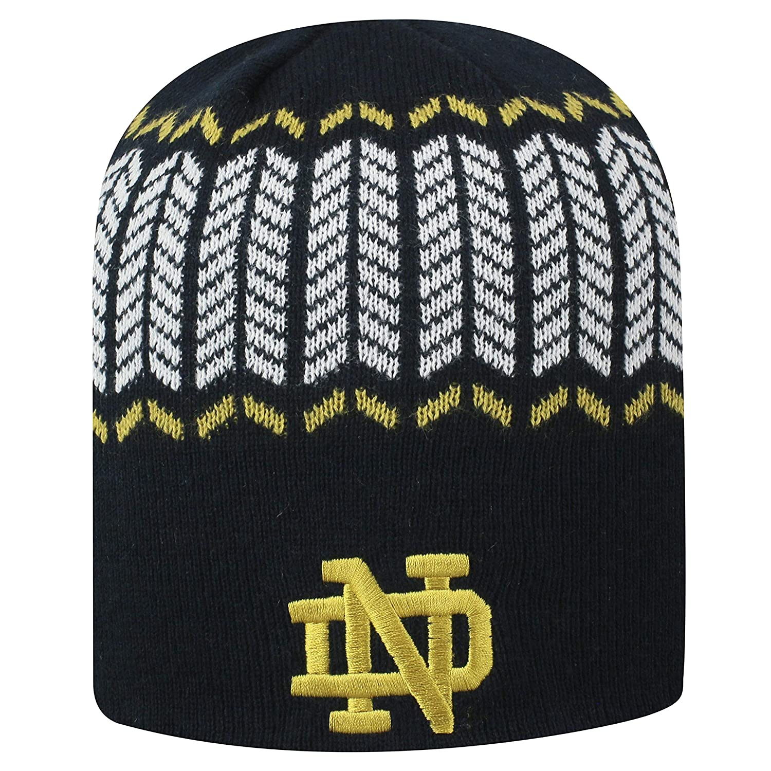 Top of the World Notre Dame Fighting Irish Official NCAA Uncuffed Knit Sports Stripe Hat 744766