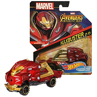 Hot Wheels Marvel Infinity War Character Cars Hulkbuster 2.0 (Veronica): Toys & Games