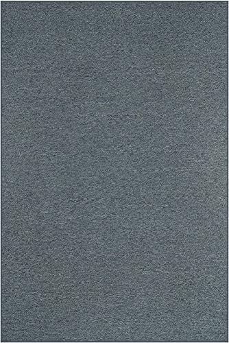 Home Queen Indoor Outdoor Commercial Area Rug Petrol Blue – 2 x3 Non Slip Backing