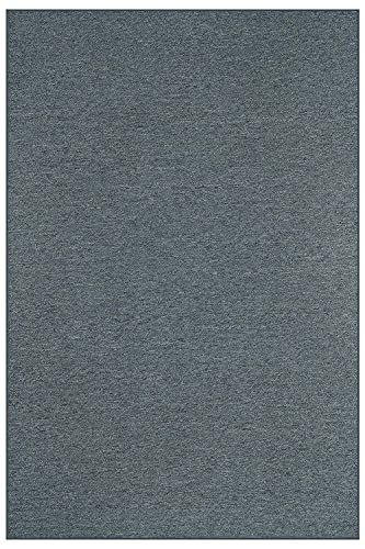 Home Queen Color World Collection Pet Friendly Indoor Outdoor Area Rug Petrol Blue – 6 x9 Non Slip Backing