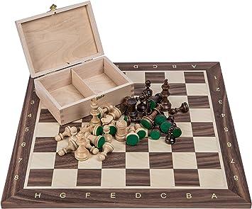 Square - Profesional Ajedrez de Madera Nº 4 - Italia - Tablero de ajedrez + Figuras - Staunton 4: Amazon.es: Juguetes y juegos