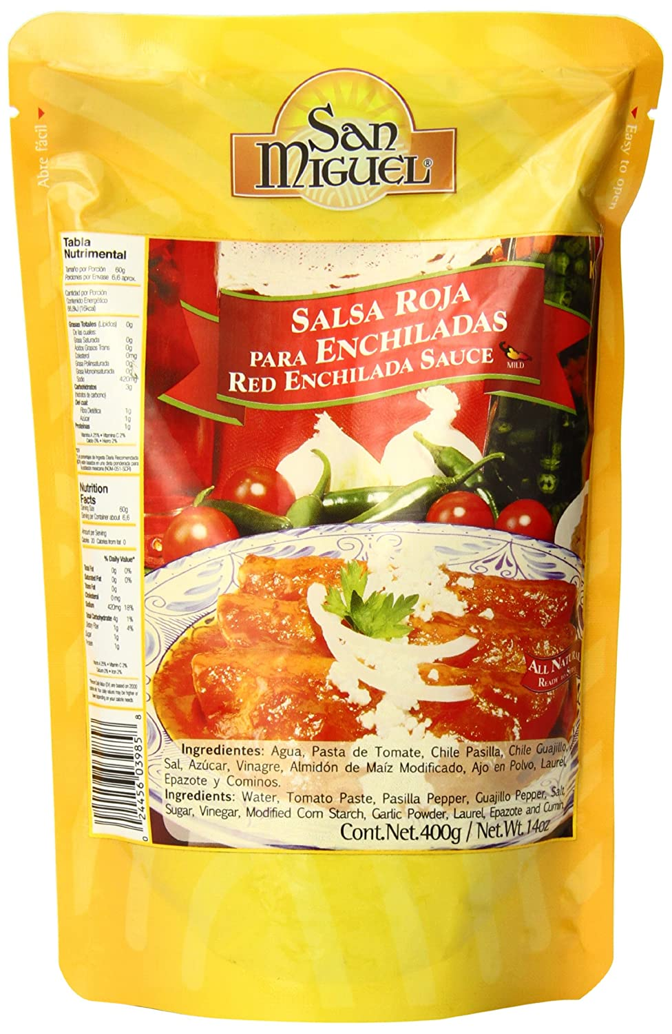 Amazon.com : San Miguel Red Enchilada Sauce, 14 Ounce : Grocery & Gourmet Food