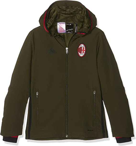 adidas ACM Pre Jkt Y AC Milan, Giacca Unisex Bambini, Verde/Nero ...