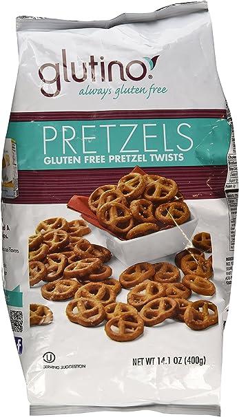 amazon com glutino gluten free pretzels 14 1oz bag