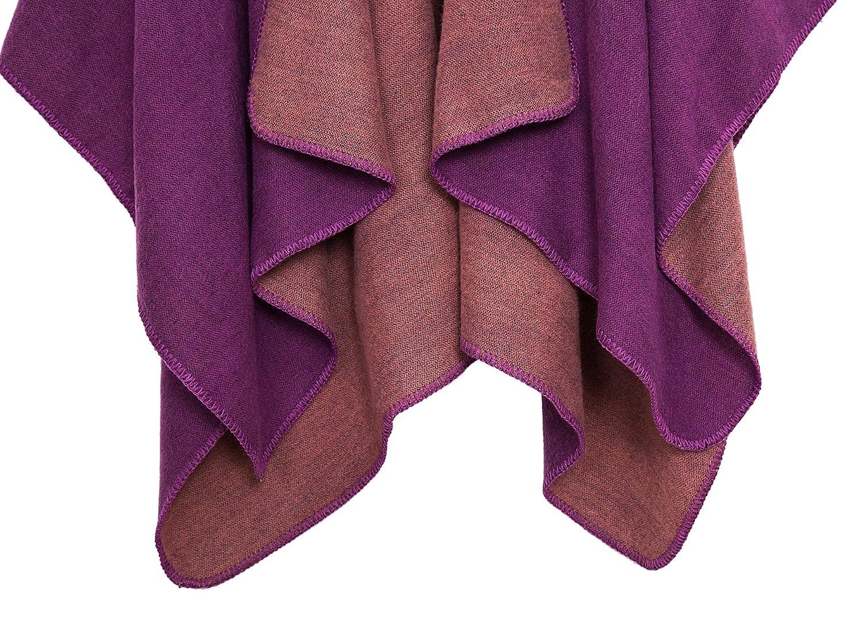C/álido Chal y Abrigos C/árdigan Frontal Abierto Elegante Capa de Color S/ólido Poncho Cape