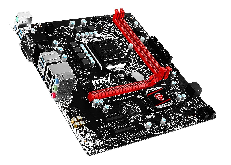 MSI Gaming Intel Skylake H110 LGA 1151 DDR4 USB 3 1 Micro ATX Motherboard  (H110M Gaming)