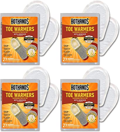 2 Pair Pack Hot Hands Toe Warmers