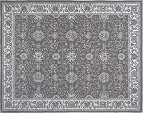 Gertmenian Traditional Carpet High Density Oriental Persian Rug, 9×13 X Large, Gray Bakhtiari Border