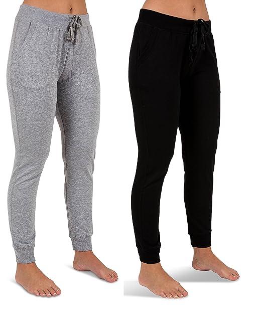 Amazon.com: Sexy Basics Pantalones para mujer de 2 unidades ...
