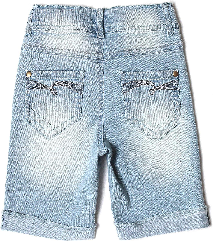 Bienzoe Ragazze Cotone Elastico Denim Pantaloncini