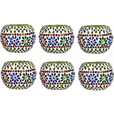 Somil Candle-Q6 Decorative Candle Tealight Holder (Pack of 6, Multicolor)