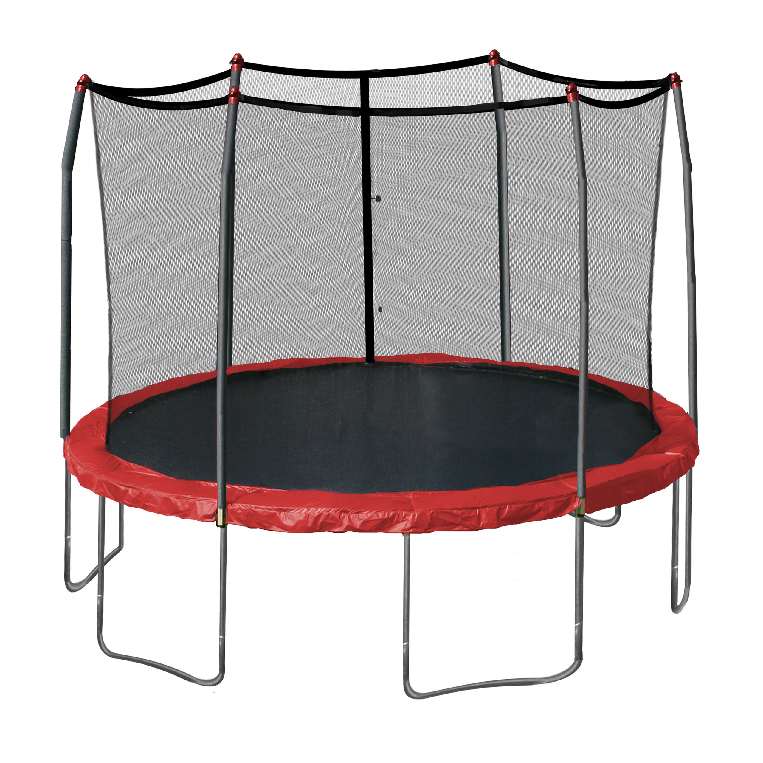 Skywalker 12-Feet Round Trampoline with Enclosure, Red