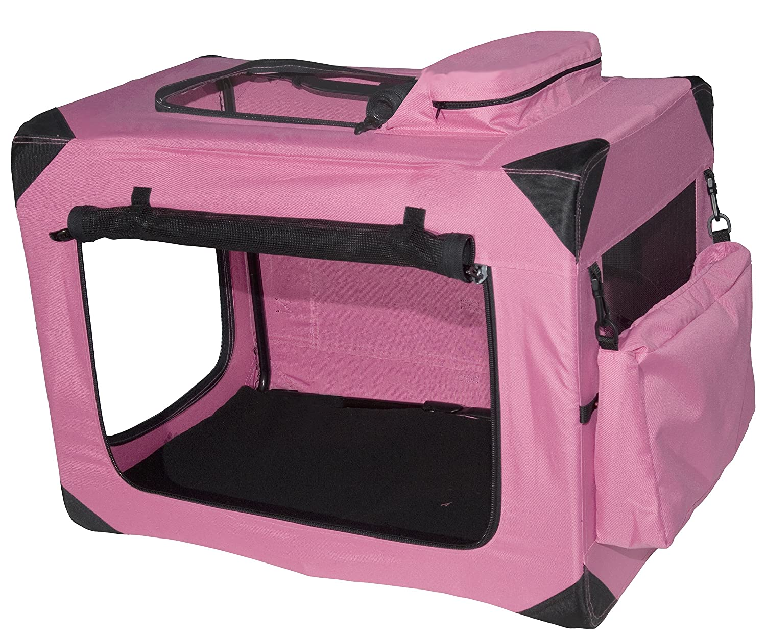 Amazon : Pet Gear Generation Ii Deluxe Portable Soft Crate For Cats And  Dogs Up To 30pounds, Pink : Pet Kennels : Pet Supplies