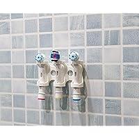 Wandhouder, zelfklevend, voor elektrische tandenborstelkoppen, ondersteunt 3 opzetstukken, Oral-B borstelkoppen (3)
