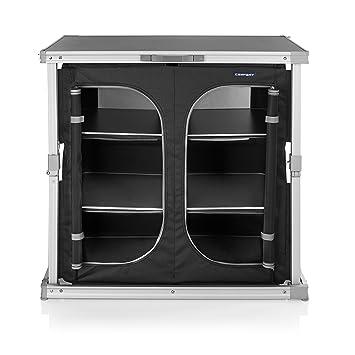 CAMPART TRAVEL Cocina de Camping Toledo KI-0758 – Seis Compartimentos – Fácil de Llevar