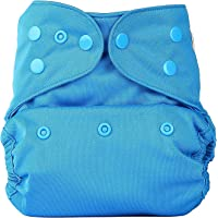 Bumberry Reusable Diaper Cover and 1 Natural Bamboo Cotton Insert (Oceanic Blue)