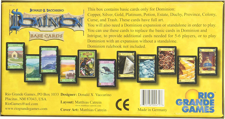 Dominion: Base Cards - Juego de Cartas (Inicial): Amazon.es ...