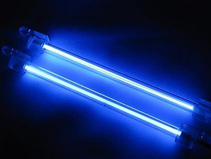 2x 15 Centimetri Auto Per Esterni Interni Lampada Al Neon Blu