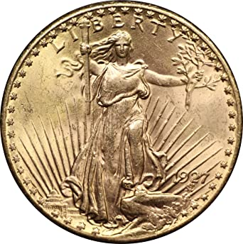 1927 U S  Saint Gaudens Double Eagle Gold Coin, Mint State