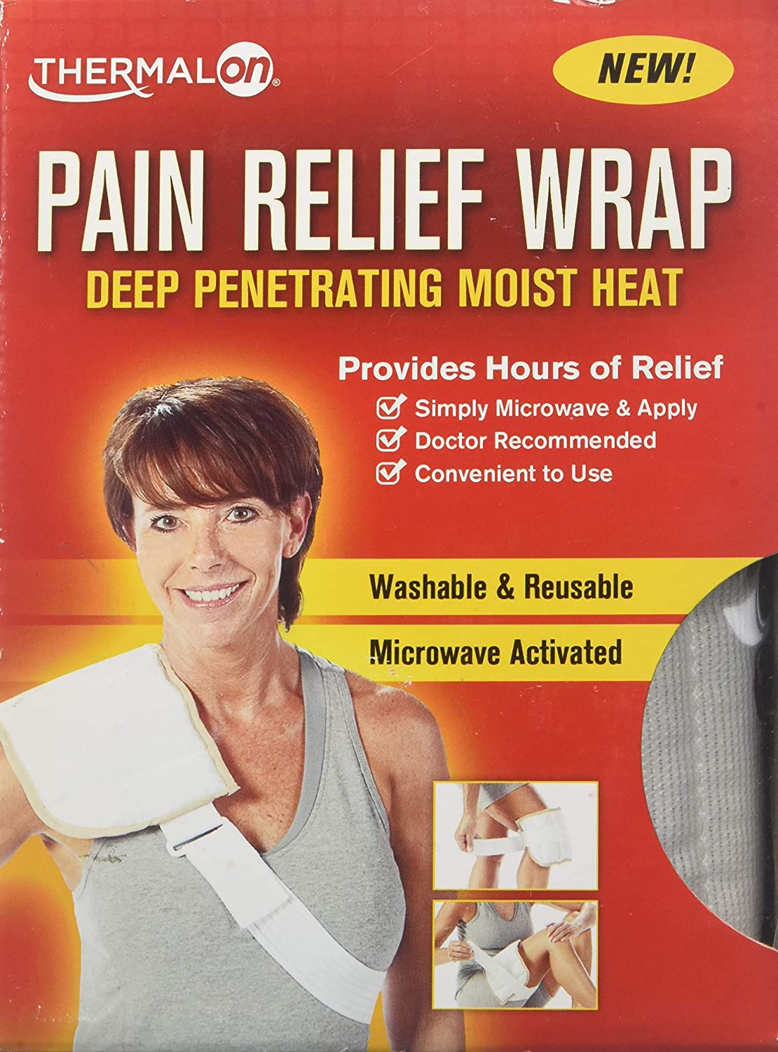 Thermalon Microwave Activated Moist Heat Pain Relief Wrap, Multi-Purpose Pain Reliever