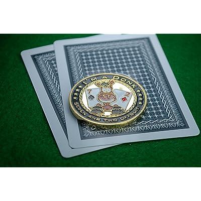 """Poker Card guard """"I 'm a Donk"""" bienes de oro: Juguetes y juegos"""