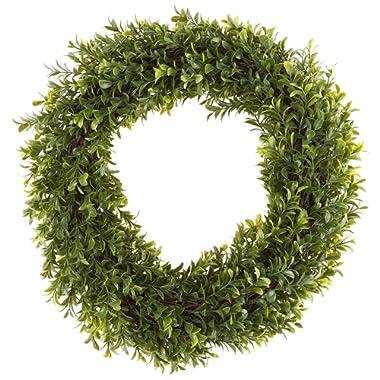 Pure Garden 50-152 Artificial Hedyotis 15 inch Round Wreath