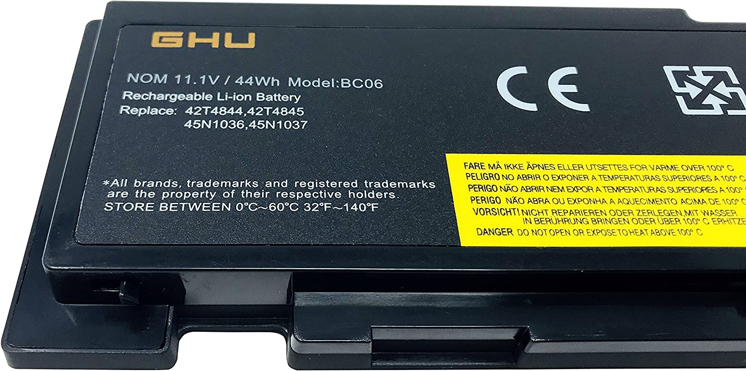 New GHU Battery 0A36287 0A36309 81+ Compatible for Lenovo ThinkPad T420s T420si 42T4846 42T4847 42T4845 42T4844 45N1036 45N1037 45N1038 45N1039 45N1064 45N1065 42T4803 42T4802 T430s T430si