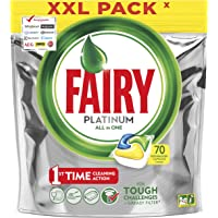 Fairy Platinum Dishwasher Tablets Lemon, 70 Tablets