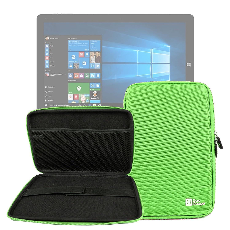 DURAGADGET Funda Rígida Verde Lima para Tablet Chuwi HiBook/HiBook Pro / Hi10 / Vi10 Ultimate - con Bolsillo De Red En Su Interior