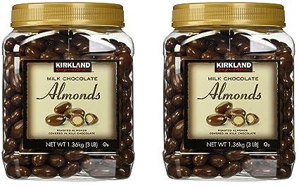 Kirkland Signature leche chocolate almendras tostadas 3 libras
