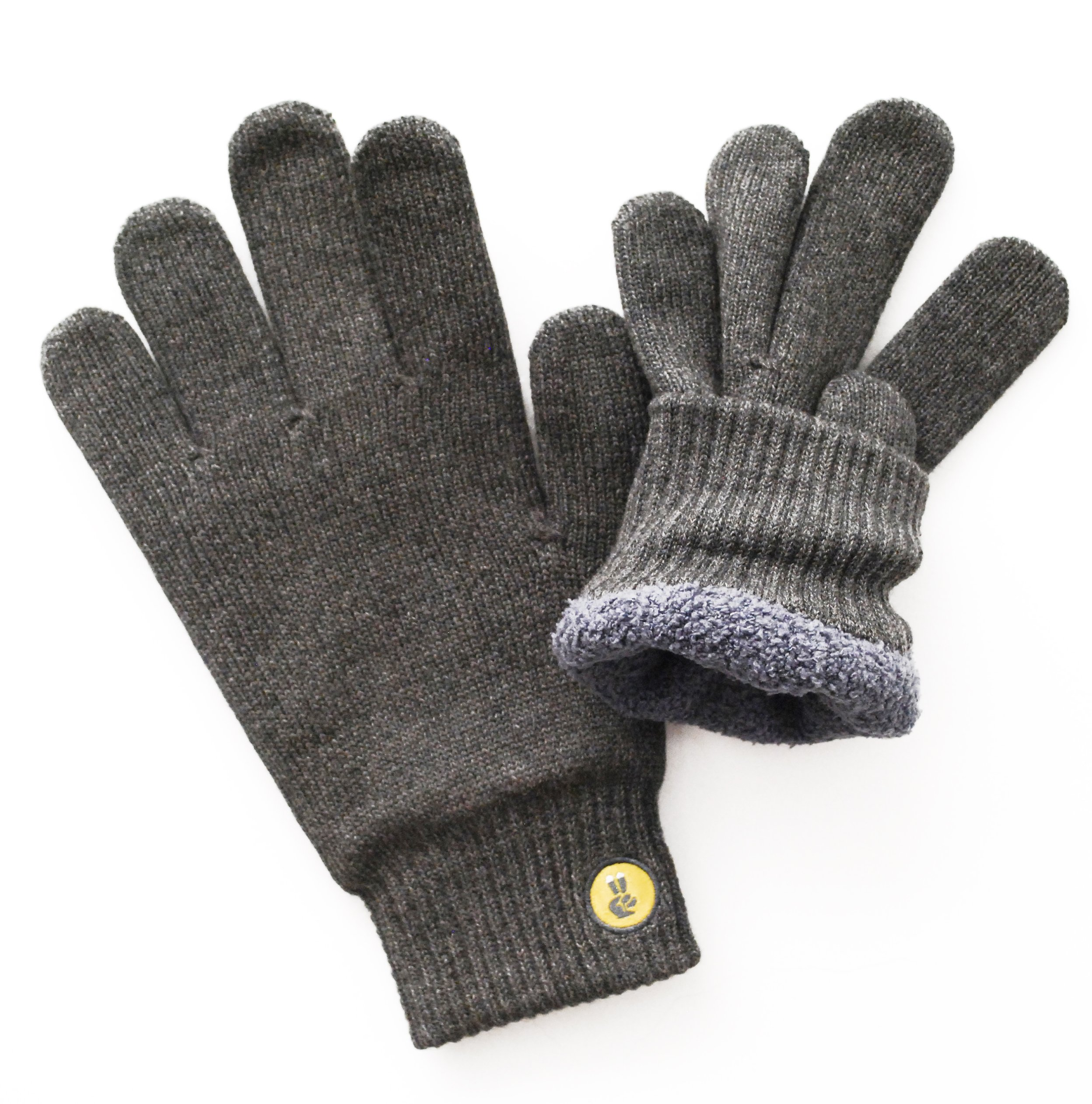 Glove.ly Adult COZY Lined Winter Touch Screen Gloves -Extra Small-Charcoal