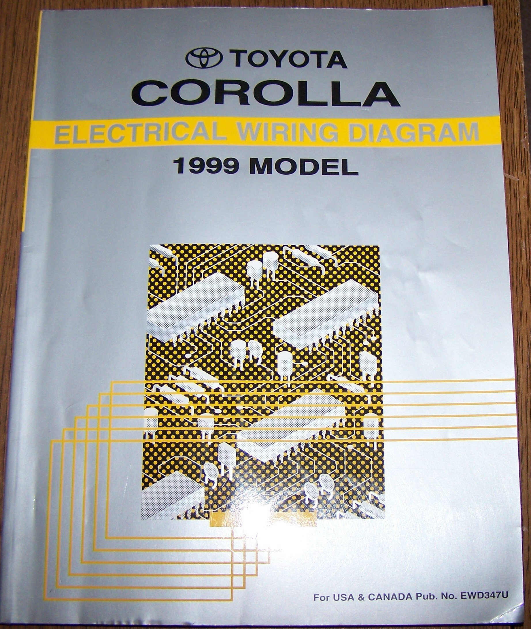 1999 Toyota Corolla Electrical Wiring Diagram Repair Manual For Motor Corp Books
