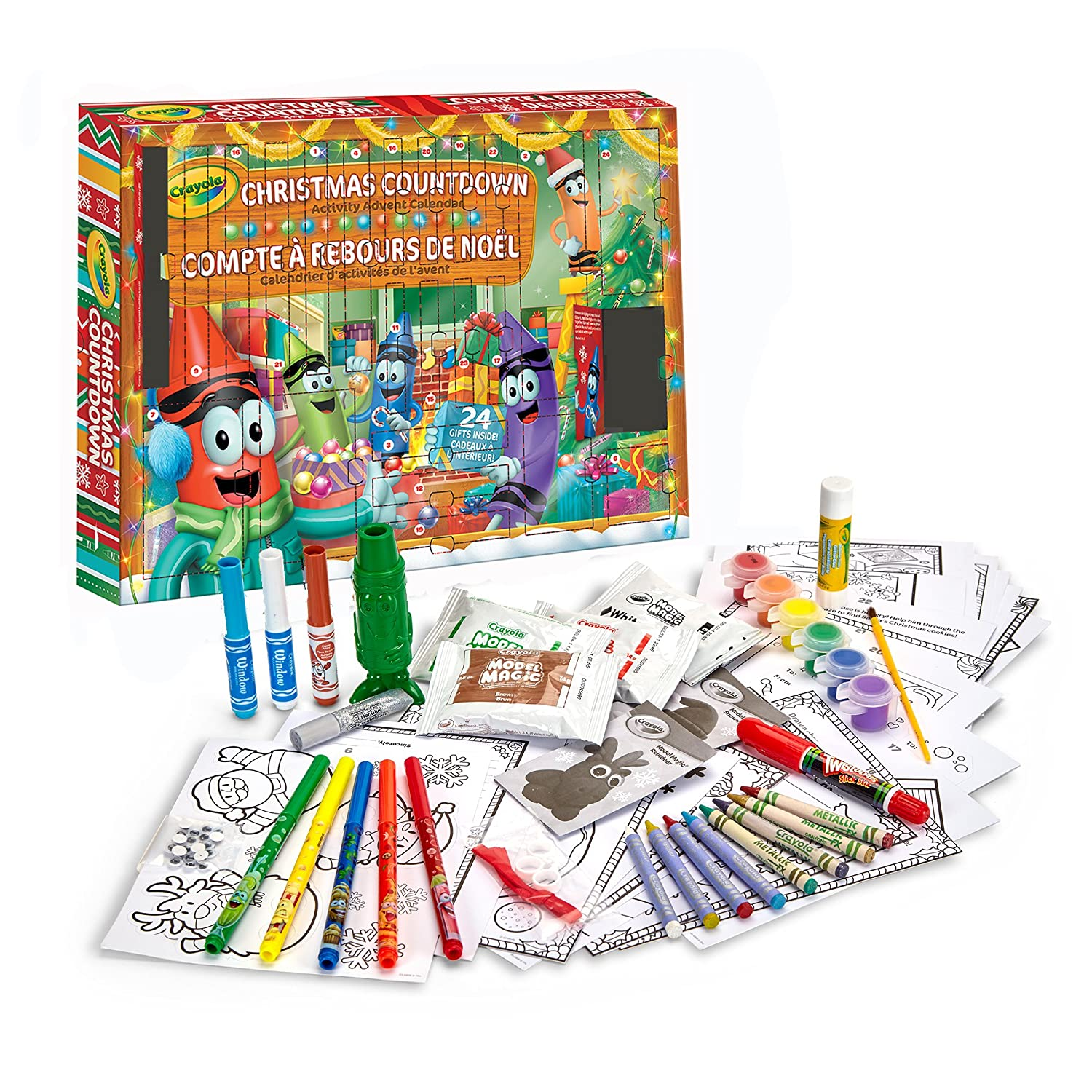 5 Ages 3,4 Easter Gifting Crayola Christmas Countdown Activity Advent Calendar Gift for Boys and Girls 6 and Up Kids Easter Basket Stuffers Arts and Crafts