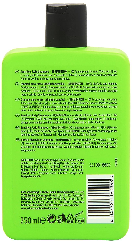 Schwarzkopf 3d Mension Champu para Cabello Sensible - 250 ml: Amazon.es: Belleza