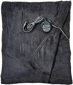Sunbeam Heated Blanket | Microplush, 10 Heat Settings, Slate, Full