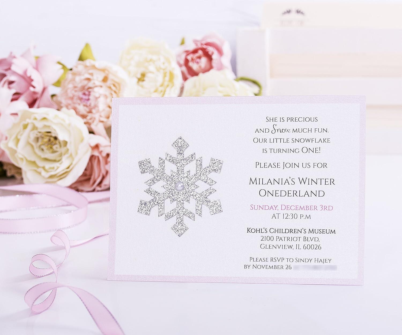 Amazon.com: Winter Onederland Invitation, First Birthday, Onederland ...