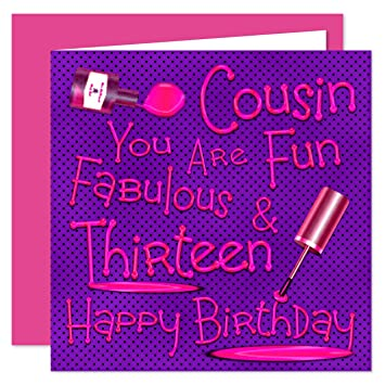 Cousin 13th Happy Birthday Card