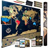 Amazon Com Scratch Off World Map Poster With Us States