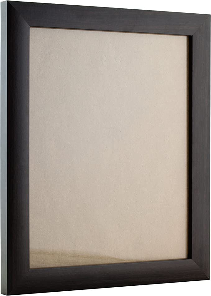 23247778 14x20 Brazilian Brown Picture Frame Matted to Display a 11x17 Photo