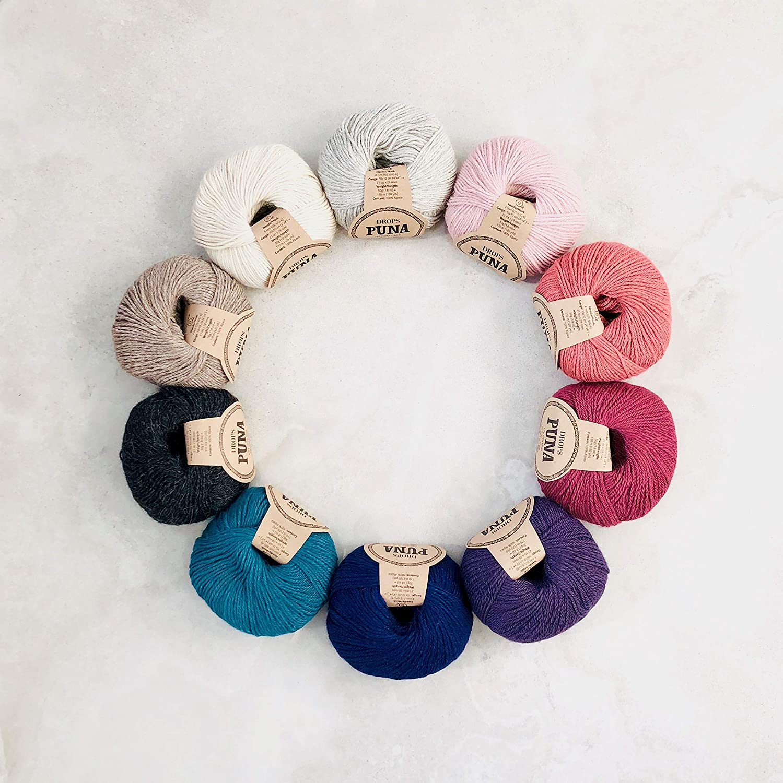 Oeko-Tex knitting crochet 10 x 50g 100/% Superfine Peruvian Alpaca DK yarn pack