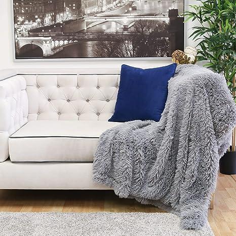 Amazon.com: Homey Cozy - Manta de piel sintética y franela ...