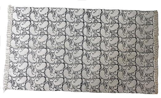 Handicraft Bazar Tapete de algodón con diseño de Bloque de algodón ...