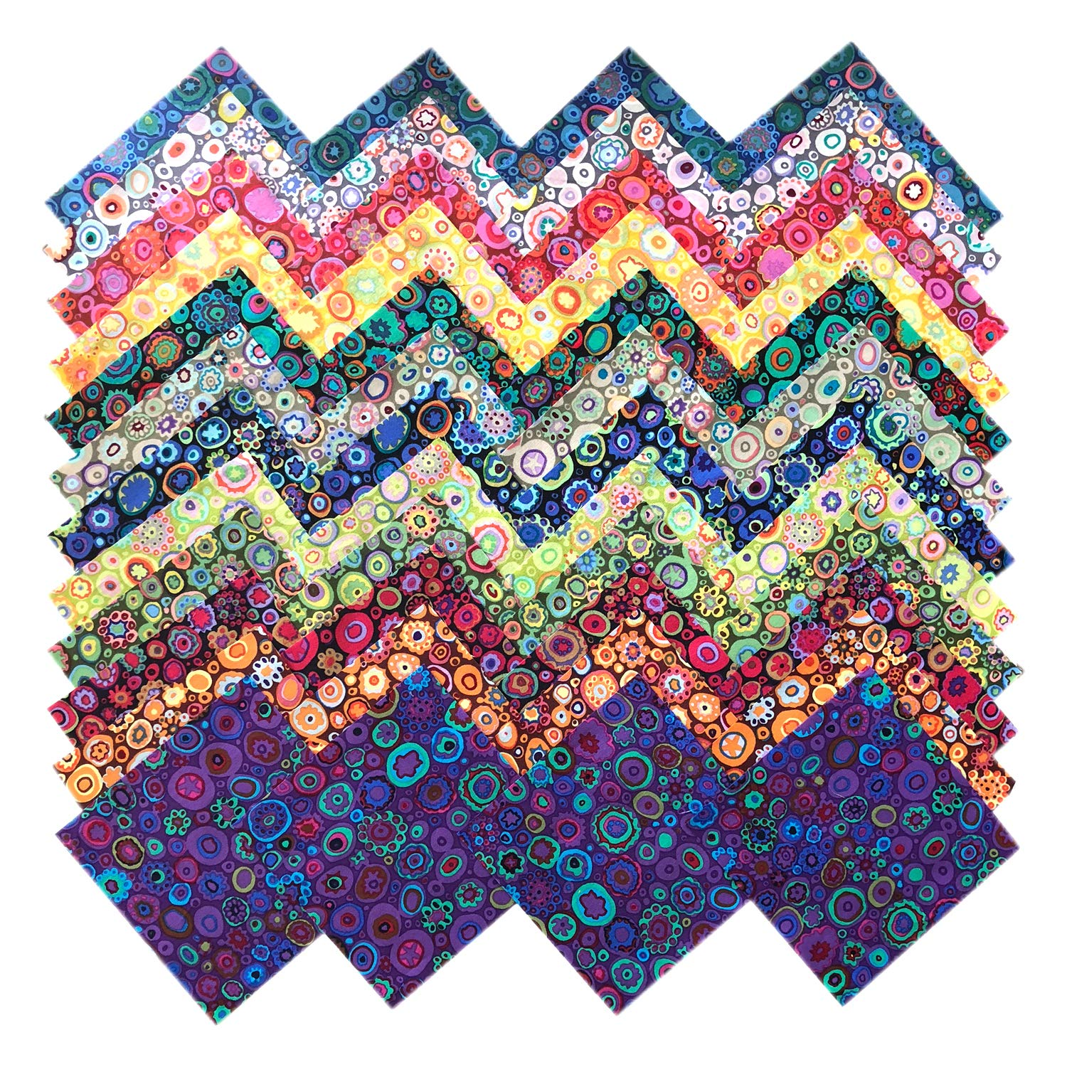 Kaffe Fassett Collective Paperweight Precut 5-inch Cotton Fabric Quilting Squares Charm Pack Assortment Westminster Fibers