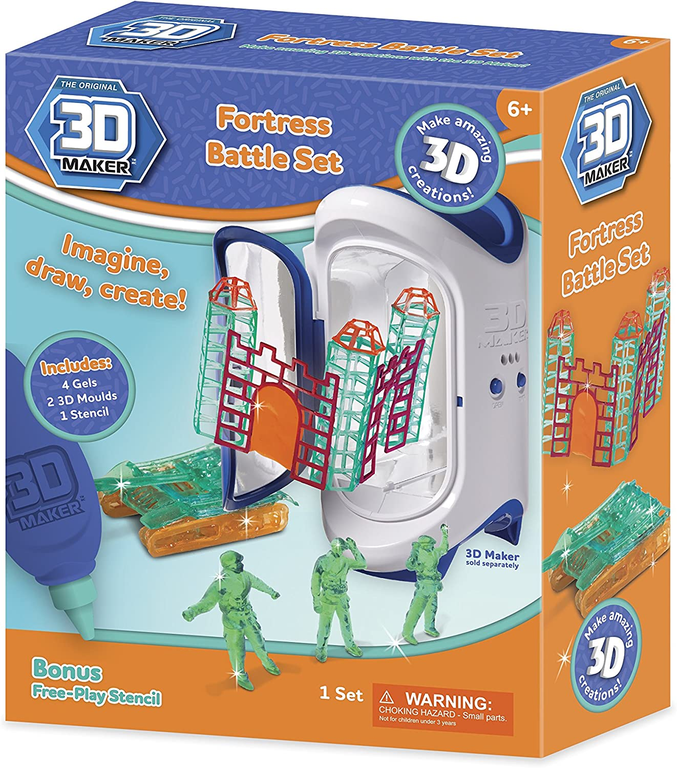 3D Maker Fortress Battle Expansion Set by 3d Magic: Amazon.es ...