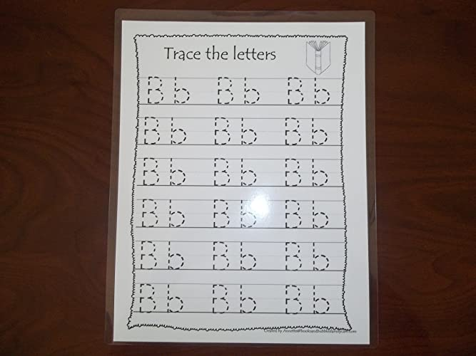 Amazon.com: 26 Preschool Dry Erase Alphabet Tracing Worksheets ...