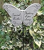 Farfalla Ornamento Speciale Alla Memoria di Fratello per Tomba