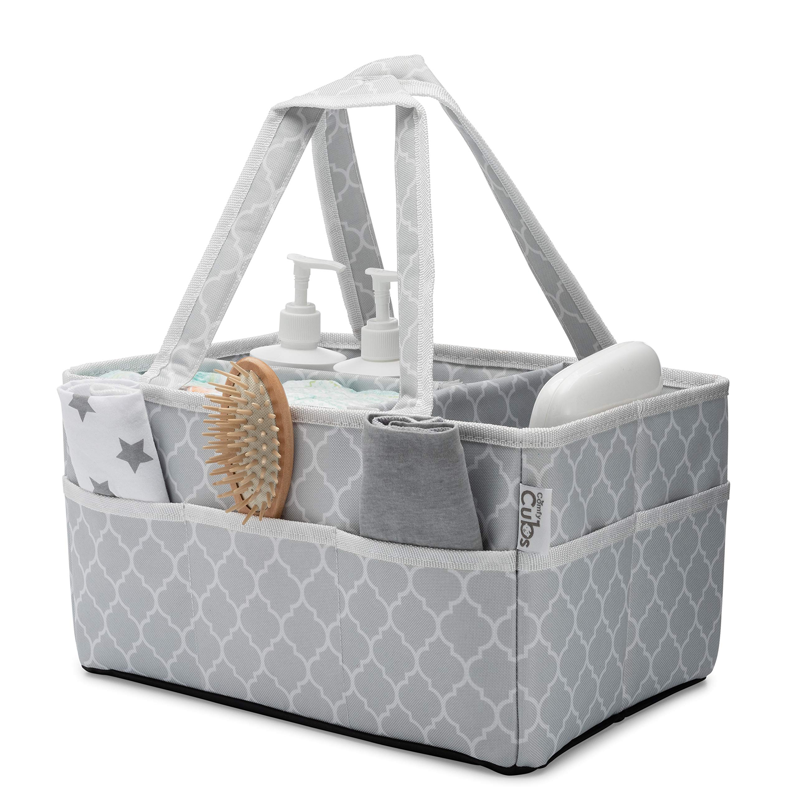 Baby Diaper Caddy Large Organizer Bag Portable Basket for Car Bedroom Travel Storage Changing Table by Comfy Cubs