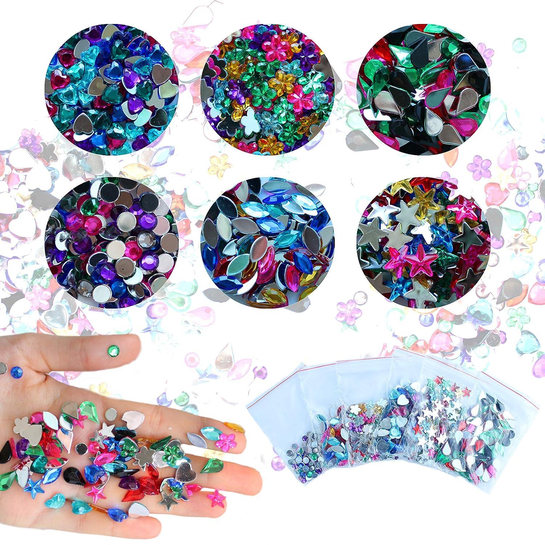 CozYours - Pegatinas autoadhesivas de diamantes de imitación (paquete de 1080/600): Amazon.es: Hogar